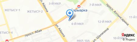 Угловой на карте Алматы