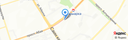 Рабикона на карте Алматы