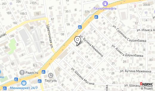 Жемчужинка. Схема проезда в Алматы