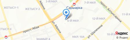 Ясли-сад №35 на карте Алматы
