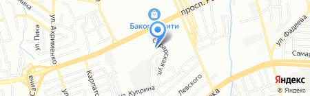 Буршак на карте Алматы