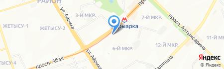 Нотариус Каримова Е.А. на карте Алматы