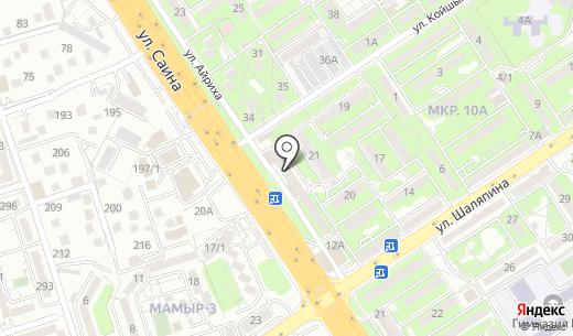 Почтовое отделение связи №36. Схема проезда в Алматы