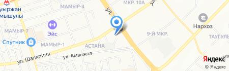 Блестяшка на карте Алматы