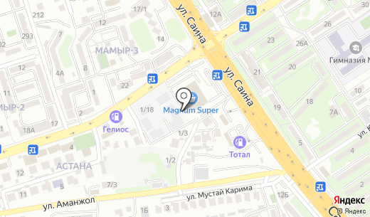 Бутик женской одежды и аксессуаров. Схема проезда в Алматы
