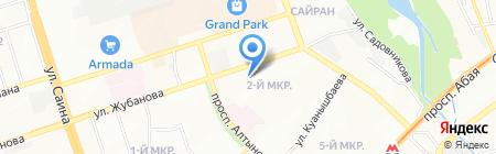 Кок Тал Сити на карте Алматы