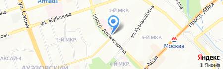 Мастерская по ремонту обуви на ул. 2-й микрорайон на карте Алматы