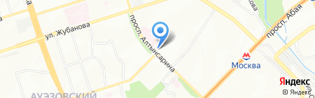 Ателье на ул. 2-й микрорайон на карте Алматы
