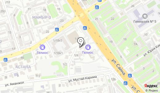 ECOS. Схема проезда в Алматы