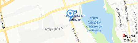 Инспекция транспортного контроля по г. Алматы на карте Алматы