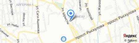 Автосервис на ул. Ырысты на карте Алматы