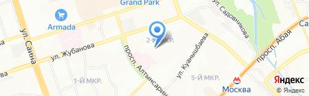 Общеобразовательная школа №104 на карте Алматы