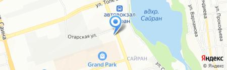 Багзор на карте Алматы