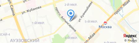 Сервис-М на карте Алматы