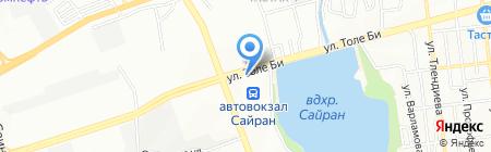 Роза на карте Алматы