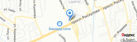 Апашки на карте Алматы