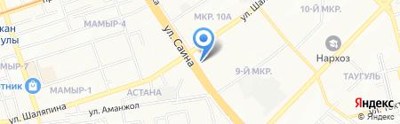 Сауле на карте Алматы