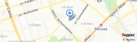 КУЛШАОРАЗ на карте Алматы