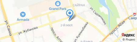 Канагат на карте Алматы