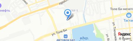 Ясли-сад №64 на карте Алматы