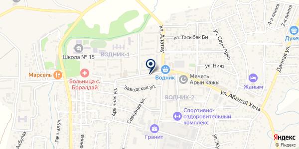 Ардак на карте Боралдае