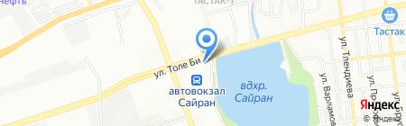 Сайран автомойка на карте Алматы
