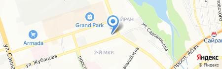 Багзи на карте Алматы