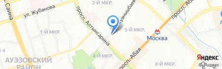 Нотариус Давлетова Ф.Д. на карте Алматы