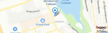 Сайран на карте Алматы