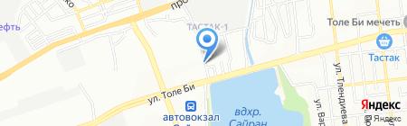 Сеть автомастерских на карте Алматы