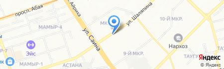 Алёнка на карте Алматы