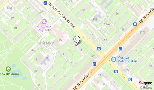 Modern. Схема проезда в Алматы