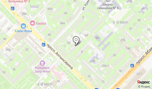 Берёзка. Схема проезда в Алматы