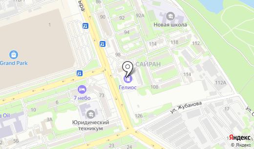 Helios. Схема проезда в Алматы