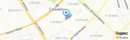 АЛМАТЫГОРСВЕТ на карте Алматы