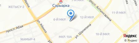 Ясли-сад №178 на карте Алматы