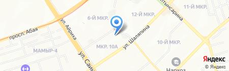 Ясли-сад №48 на карте Алматы