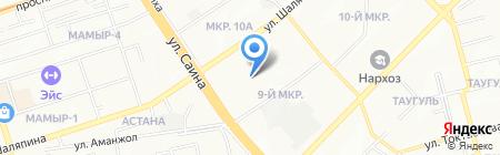 Школа-гимназия №5 на карте Алматы