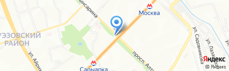 Ак-Жайык на карте Алматы