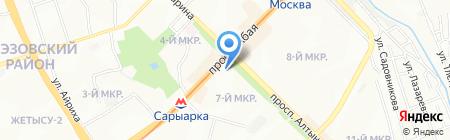 Абай продуктовый магазин на карте Алматы