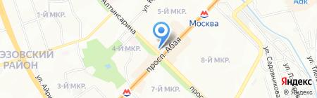 Продовольственный магазин на ул. 5-й микрорайон на карте Алматы