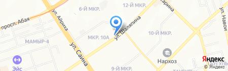 Apriori на карте Алматы