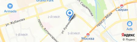 Евгения на карте Алматы