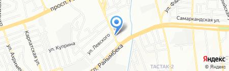 Илийский на карте Алматы
