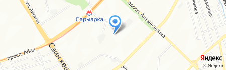 Саида на карте Алматы