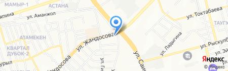 Смат на карте Алматы