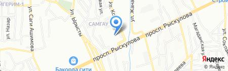 Темир-Центр на карте Алматы