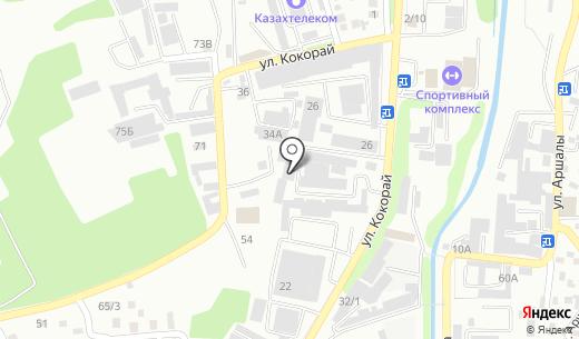 М-А Сервис. Схема проезда в Алматы