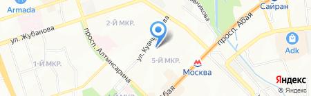 Школа-гимназия №6 на карте Алматы