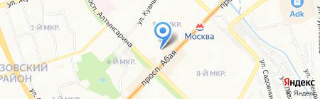 Продуктовый магазин на ул. 5-й микрорайон на карте Алматы
